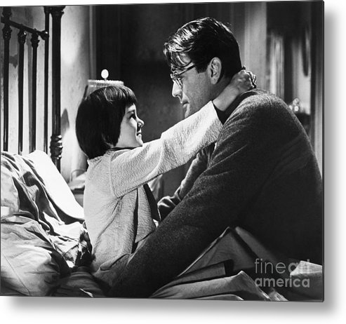 Child Metal Print featuring the photograph Gregory Peck And Mary Badham In To Kill by Bettmann