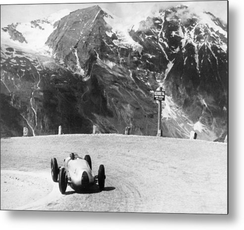 Country And Western Music Metal Print featuring the photograph Hermann Muller In An Auto Union, German by Heritage Images
