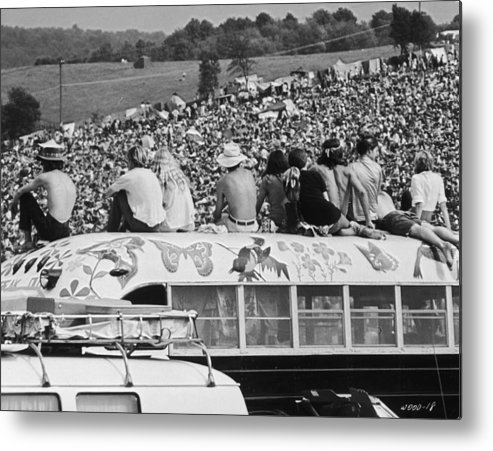 Young Men Metal Print featuring the photograph Hippy Bus by Archive Photos
