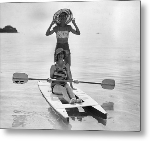 Recreational Pursuit Metal Print featuring the photograph Holiday Canoers by E. Phillips