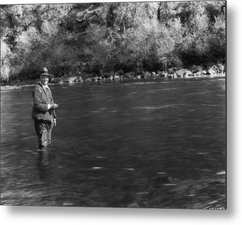 People Metal Print featuring the photograph Hoover Fishing by Mpi