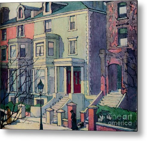 Row House Metal Print featuring the drawing Houses In Sunlight, Hampstead, C20th by Print Collector