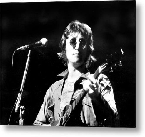 Usa Metal Print featuring the photograph John Lennon. Performing At Th One To by New York Daily News Archive