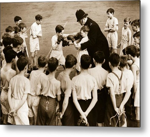 Crowd Metal Print featuring the photograph Junior Boxing by Fox Photos