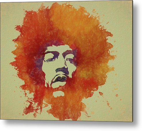 Psychedlic Metal Print featuring the painting Just Jimi by Dan Sproul