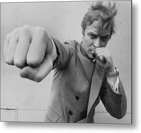Michael Caine Metal Print featuring the photograph Michael Caine Throwing A Punch by Stephan C Archetti
