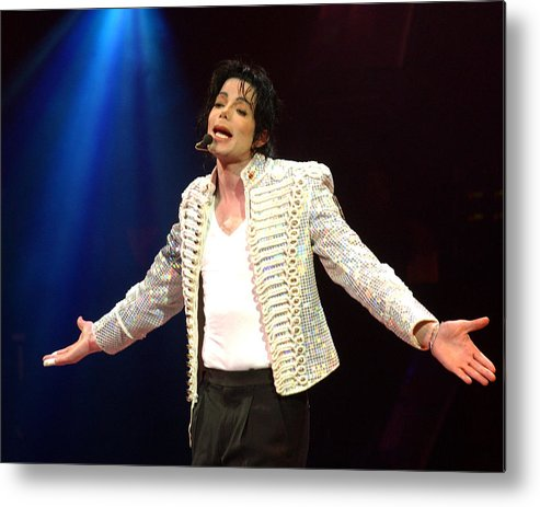 Democracy Metal Print featuring the photograph Michael Jackson Performs Onstage During by New York Daily News Archive