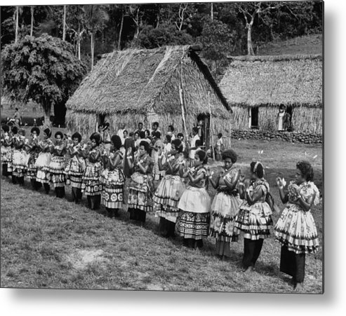 Timeincown Metal Print featuring the photograph Native Women Performing Ceremonial Dance by Eliot Elisofon
