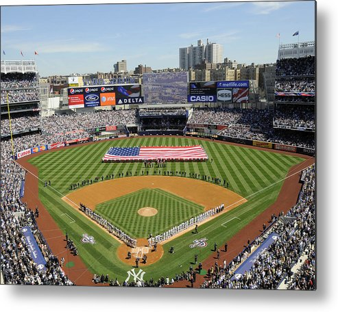 American League Baseball Metal Print featuring the photograph Opening Day Yankee Stadium. New York by New York Daily News Archive