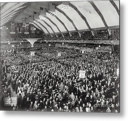 People Metal Print featuring the photograph Opening Of G.o.p. Convention by Bettmann