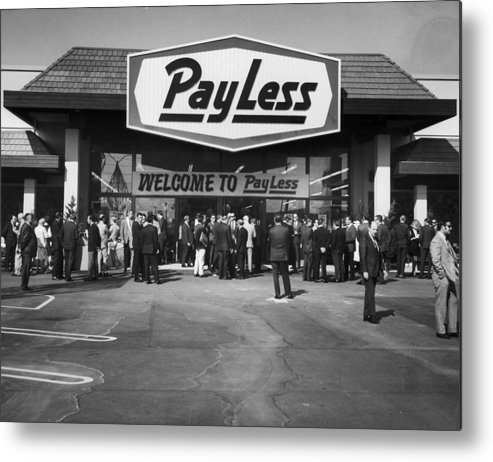 Crowd Metal Print featuring the photograph Pay Less For Drugs by American Stock Archive