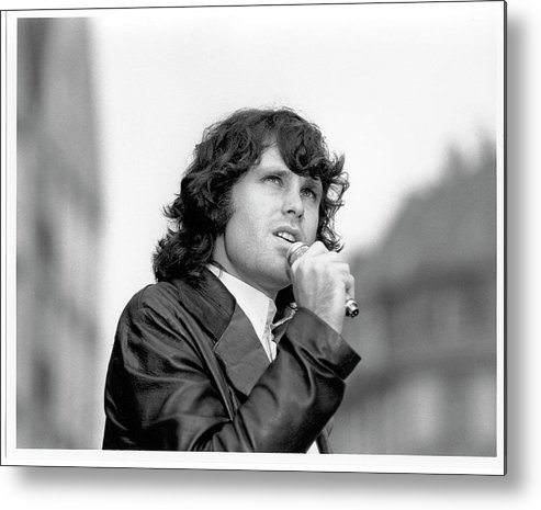 Music Metal Print featuring the photograph Photo Of Morrison Jim by Michael Ochs Archives