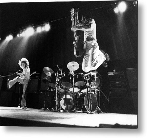 Music Metal Print featuring the photograph Photo Of Who And Roger Daltrey And Pete by David Redfern