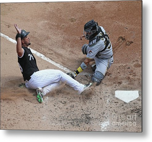 American League Baseball Metal Print featuring the photograph Pittsburgh Pirates V Chicago White Sox by Jonathan Daniel