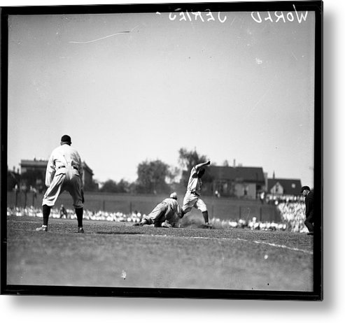People Metal Print featuring the photograph Play During The 1929 World Series by Chicago History Museum