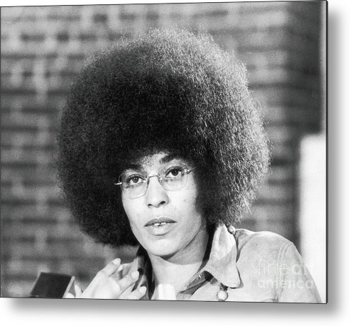 Education Metal Print featuring the photograph Portrait Of Angela Davis by Fred W. Mcdarrah