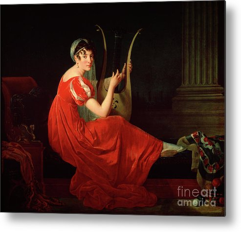 Oil Painting Metal Print featuring the drawing Portrait Of Josephine Budayevskaya by Heritage Images