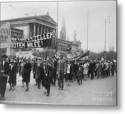 People Metal Print featuring the photograph Processiondemonstration On May-day by Bettmann