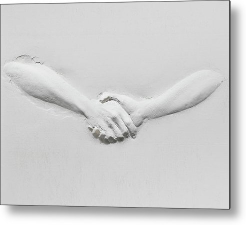Human Arm Metal Print featuring the photograph Relief Of Handshake by Henrik Sorensen