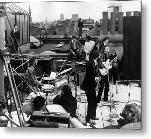 Rock Music Metal Print featuring the photograph Rooftop Beatles by Express