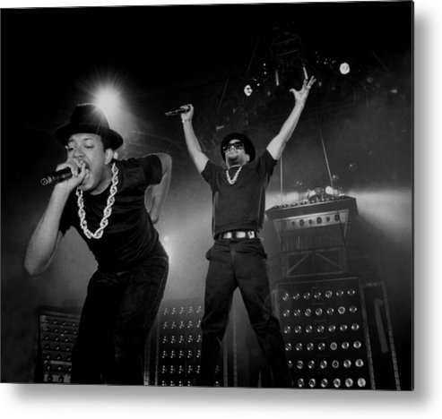 Darryl Mcdaniels Metal Print featuring the photograph Run Dmc Live In Concert by Raymond Boyd