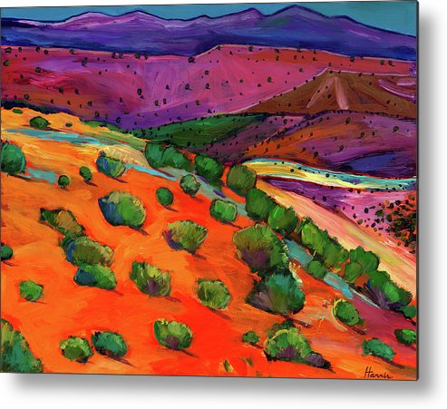 New Mexico Metal Print featuring the painting Sage Slopes by Johnathan Harris