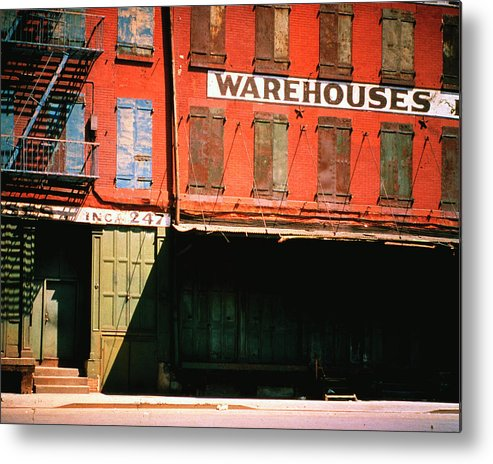 Timeincown Metal Print featuring the photograph Shuttered Warehouse On The Lower East by Walker Evans