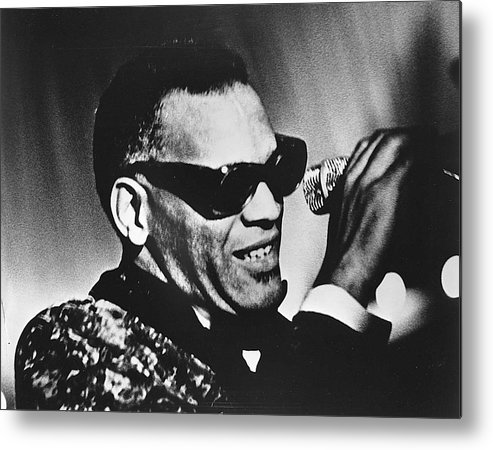People Metal Print featuring the photograph Singer Ray Charles by Afro Newspaper/gado