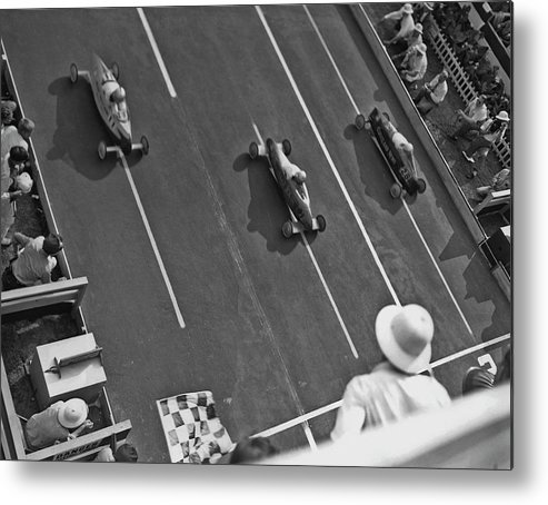 1940-1949 Metal Print featuring the photograph Soap Box Derby by Fpg