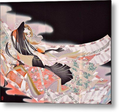 Metal Print featuring the digital art Spirit of Japan T22 by Miho Kanamori