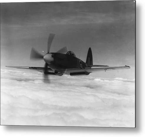 Military Airplane Metal Print featuring the photograph Supermarine Spiteful by Keystone