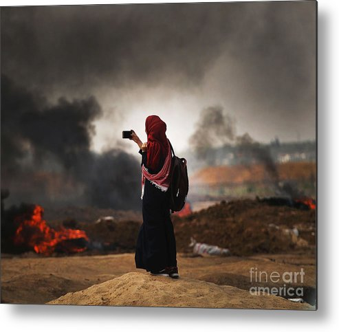 Palestinian Territories Metal Print featuring the photograph Tensions In Gaza Remain High by Spencer Platt