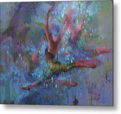 Dancer Metal Print featuring the painting Terpsichore by Cathy Locke