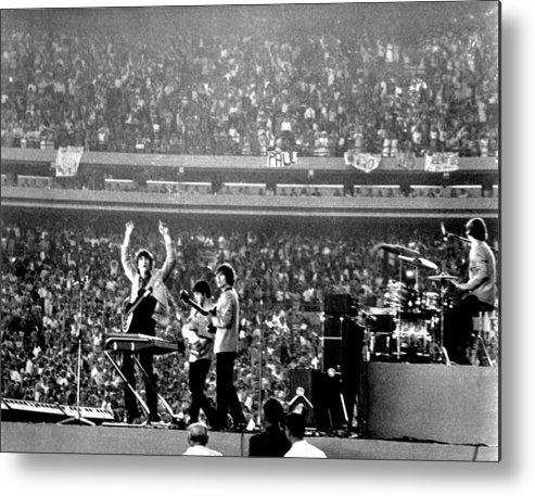 Paul Mccartney Metal Print featuring the photograph The Beatles by Michael Ochs Archives
