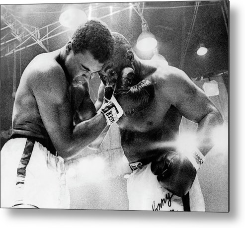 Heavyweight Metal Print featuring the photograph The Cassius Clay Vs Sonny Liston World by Keystone-france