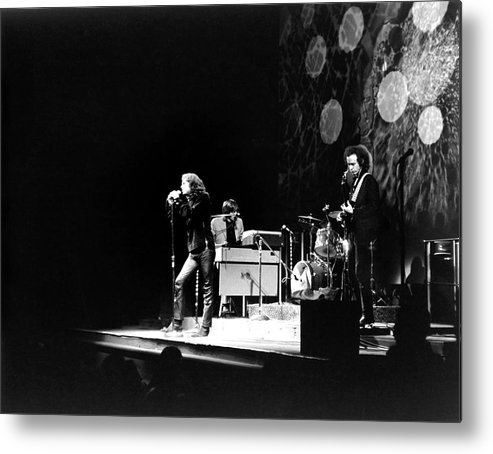 Rock Music Metal Print featuring the photograph The Doors At The Fillmore East by Fred W. McDarrah