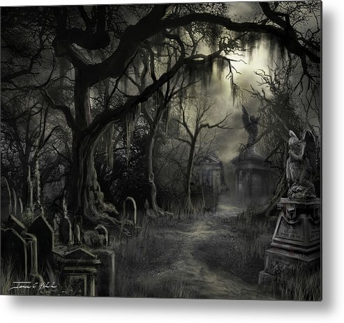 Cemetery Metal Print featuring the painting The Lost Cemetery by James Christopher Hill