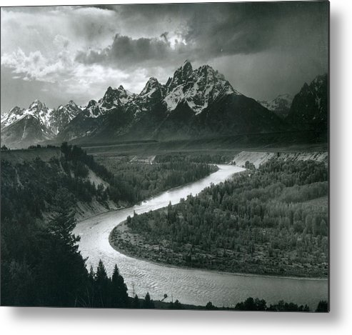 Social Issues Metal Print featuring the photograph The Tetons - Snake River by Archive Photos