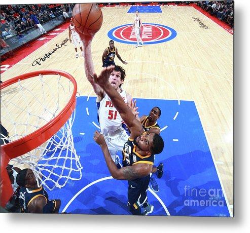 Nba Pro Basketball Metal Print featuring the photograph Utah Jazz V Detroit Pistons by Brian Sevald