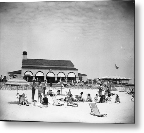 1950-1959 Metal Print featuring the photograph View Of Southampton Beach Club With by Bert Morgan