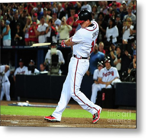 Atlanta Metal Print featuring the photograph Chipper Jones by Scott Cunningham