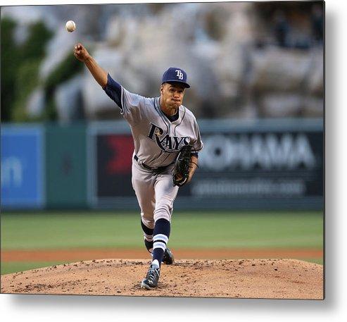 American League Baseball Metal Print featuring the photograph Chris Ray by Stephen Dunn