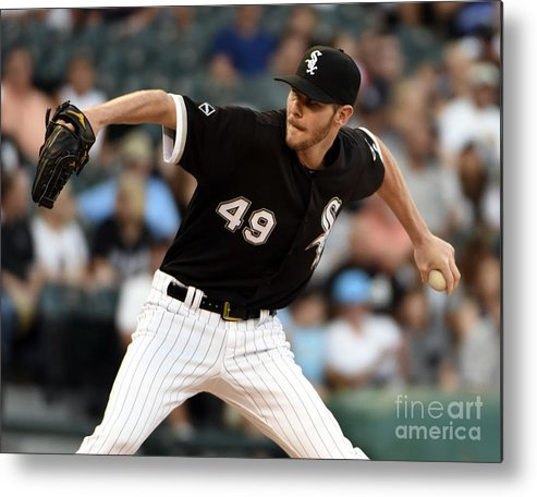 Three Quarter Length Metal Print featuring the photograph Chris Sale by David Banks