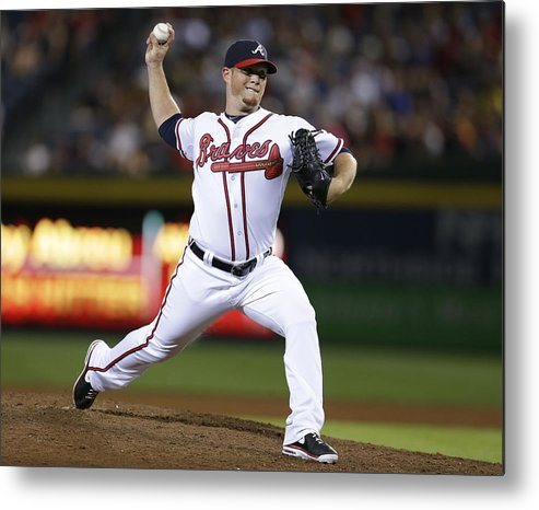 Atlanta Metal Print featuring the photograph Craig Kimbrel by Mike Zarrilli