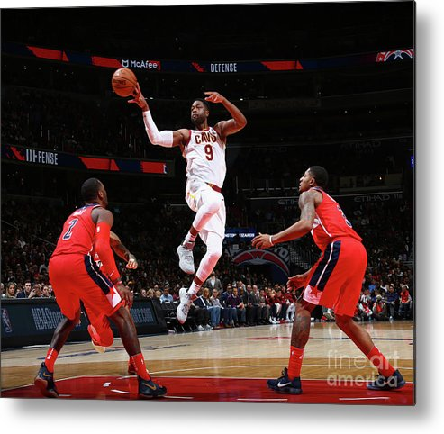 Nba Pro Basketball Metal Print featuring the photograph Dwyane Wade by Ned Dishman