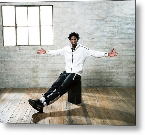 Nba Pro Basketball Metal Print featuring the photograph Joel Embiid by Nathaniel S. Butler