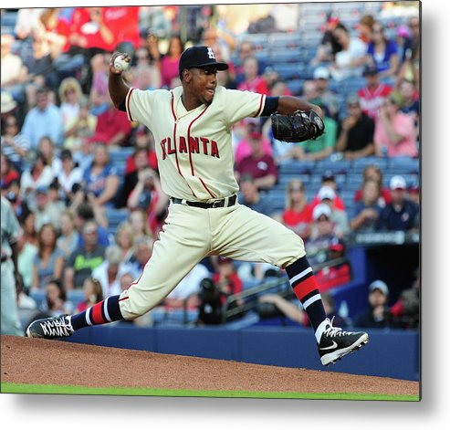 Atlanta Metal Print featuring the photograph Julio Teheran by Scott Cunningham