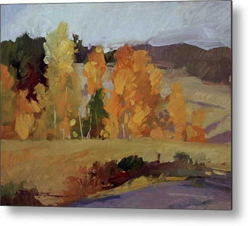 Montana Landscape Metal Print featuring the painting Montana Autumn by Betty Jean Billups