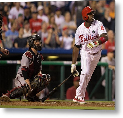People Metal Print featuring the photograph Ryan Howard by Mitchell Leff