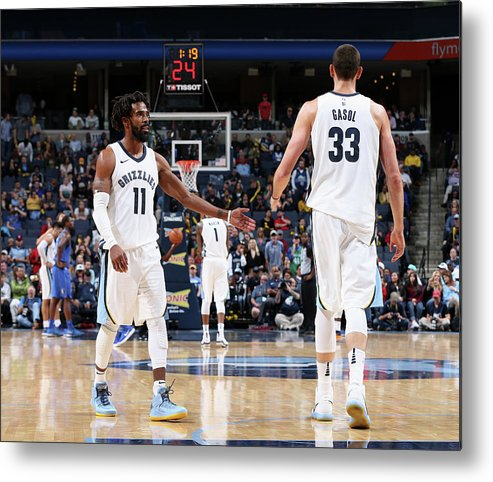 Nba Pro Basketball Metal Print featuring the photograph Mike Conley by Joe Murphy
